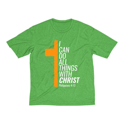 I Can Do All Things With Christ Men's Heather Dri-Fit Tee
