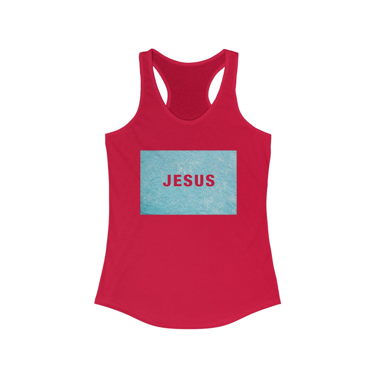 Jesus Paint Abstract Women's Ideal Racerback Tank