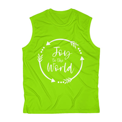 Joy to the World Men's Sleeveless Performance Tee