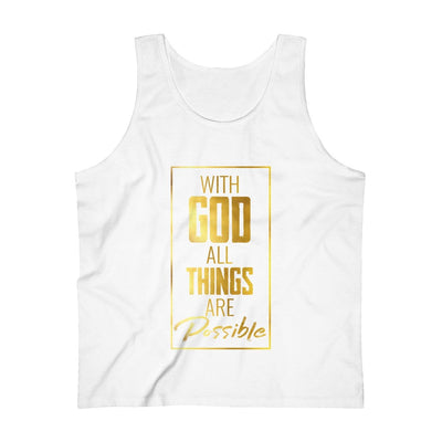 All Things Possible Men's Ultra Cotton Tank Top