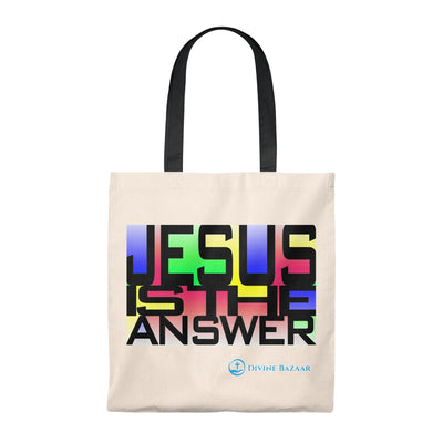 JESUS IS THE ANSWER Tote Bag - Vintage