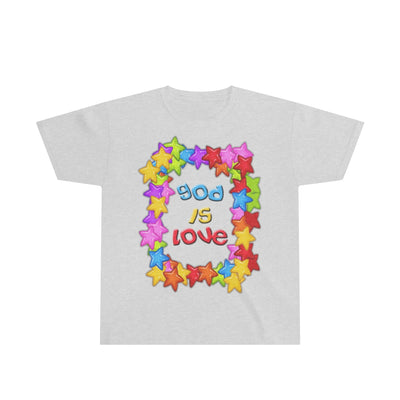 God is Love Colorful Youth Ultra Cotton Tee