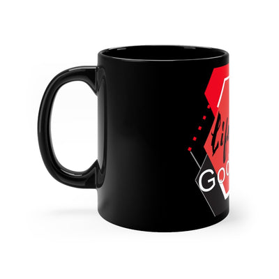 Black mug 11oz - Life Hurts But God Heals