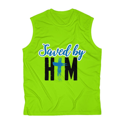 Saved By Him Men's Sleeveless Performance Tee