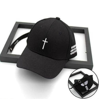 Embroidery Christian Cross Cotton Baseball Cap - The Divine Bazaar