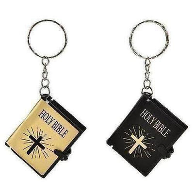 English Version Small Size Holy Bible Key Chain Book - The Divine Bazaar