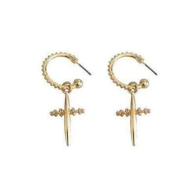 European Style Cross Fashion Circle Drop Earring - The Divine Bazaar
