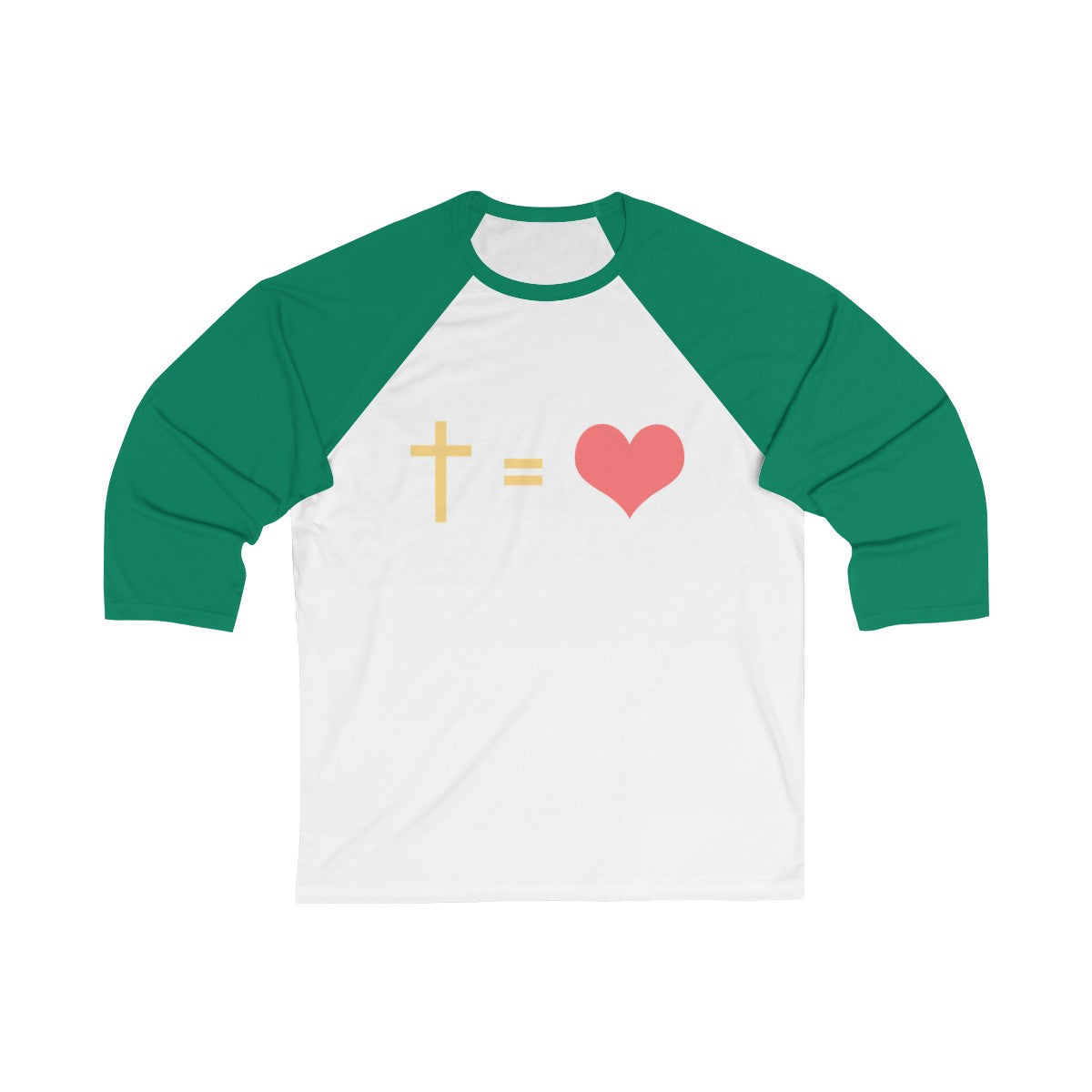 A Cross And A Heart Unisex Long Sleeves