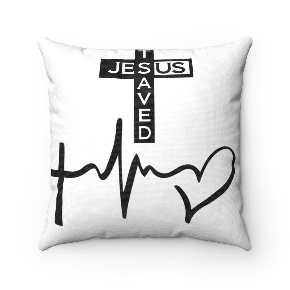 Our Jesus Saved Christian Pillow