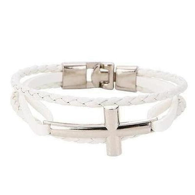 Faux Leather Rope Chain Bangles Bracelet - The Divine Bazaar