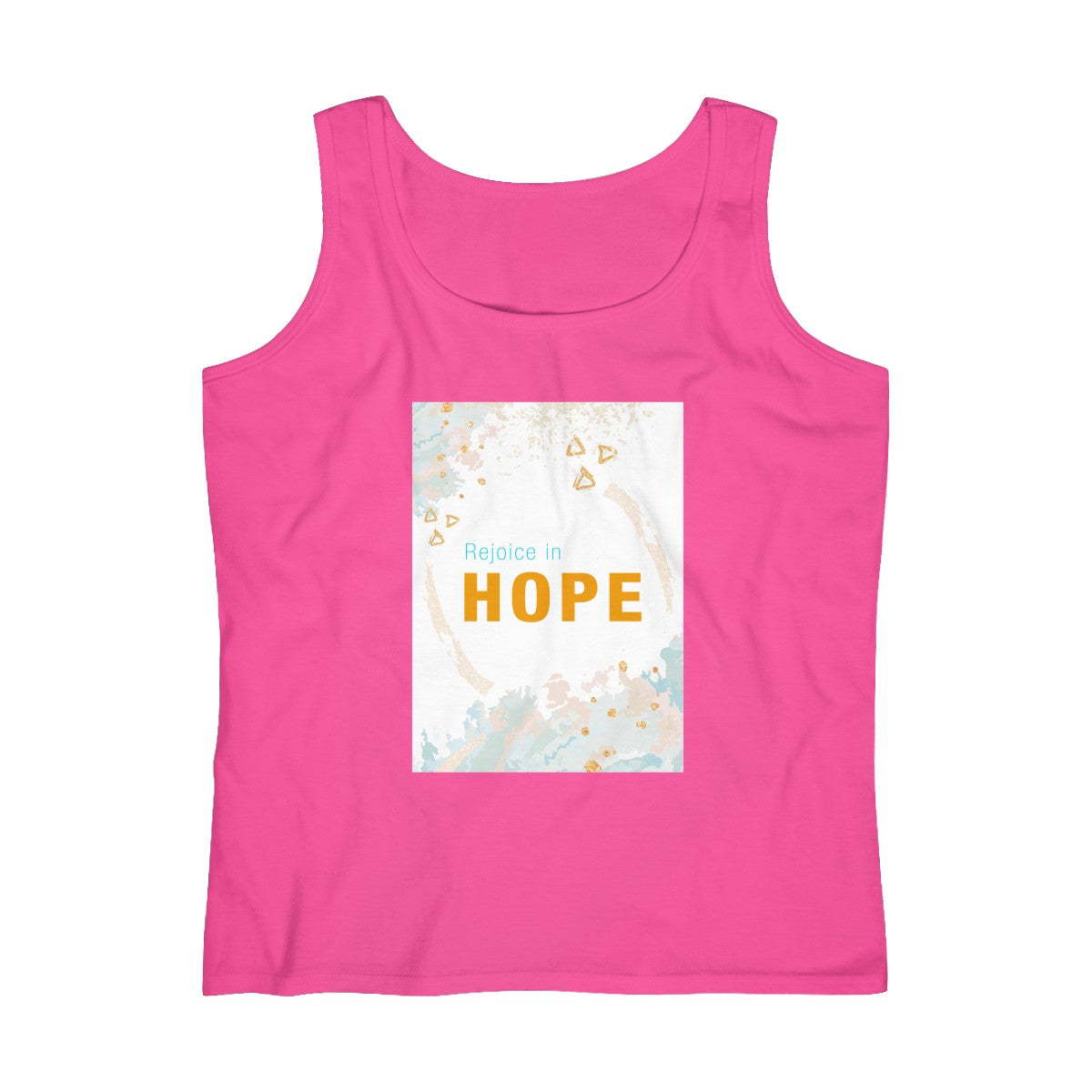 Rejoice in Hope Abstract Women's Lightweight Tank Top