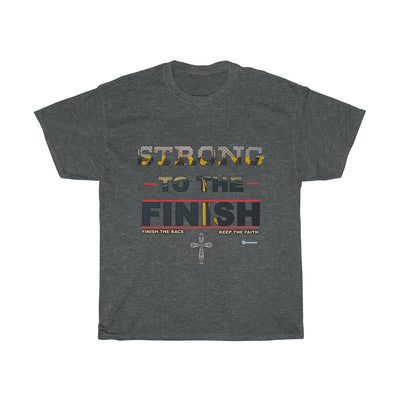 Unisex Heavy Cotton Tee - Strong To The Finish
