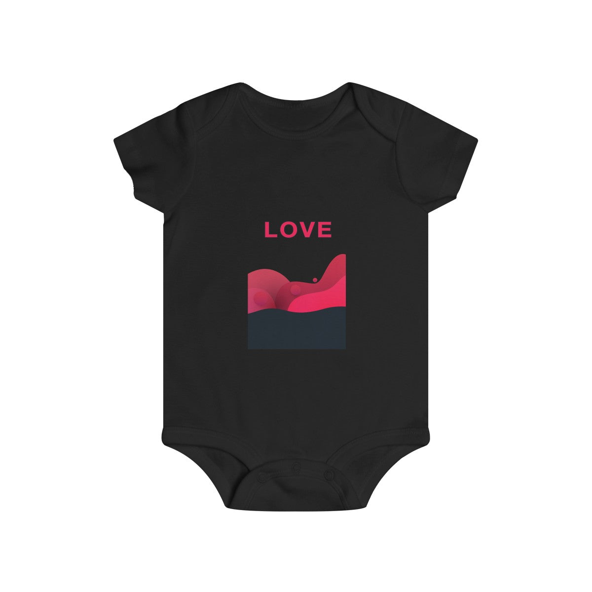Love Abstract Infant Rip Snap Tee