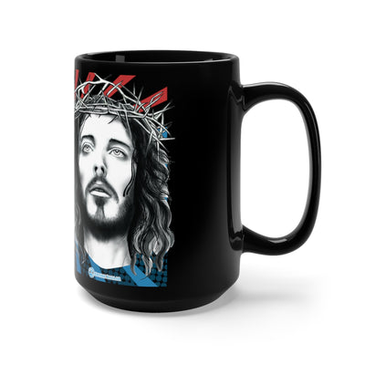 Black Mug 15oz - I am with God