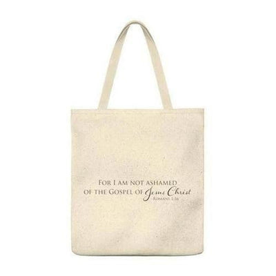 For I Am Not Ashamed of The Gospel Tote - The Divine Bazaar