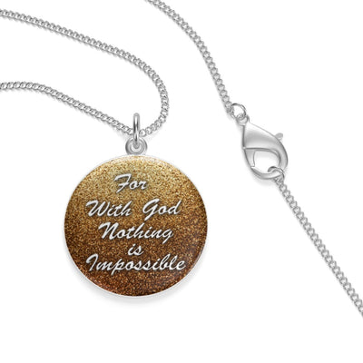 For With God Nothing is Impossible (Single Loop Necklace)