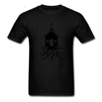 God Church With Roots Designing T-shirt - The Divine Bazaar