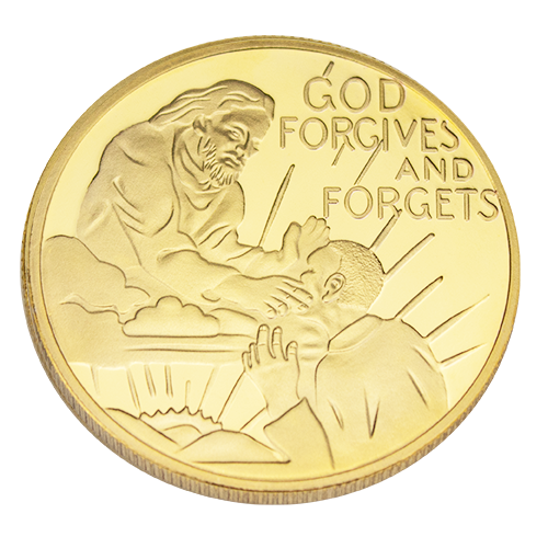 God Forgives and Forgets Coin