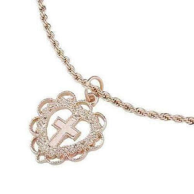 Heart Choker Cross Pendant Necklace - The Divine Bazaar