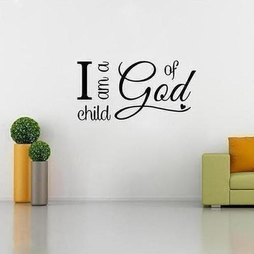 I Am A Child Of God Wall Sticker - The Divine Bazaar