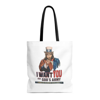 I Want You In God's Army Tote Bag