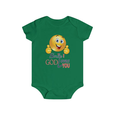 Infant Rip Snap Tee-God Loves you