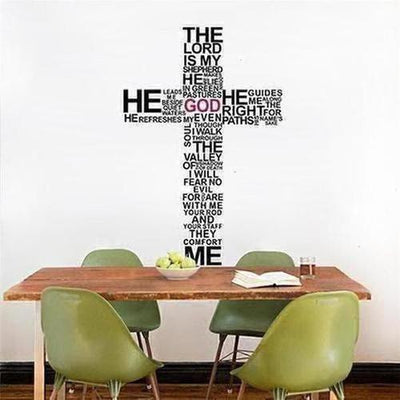 Jesus Christ Pray Bible Bless Wall Sticker - The Divine Bazaar