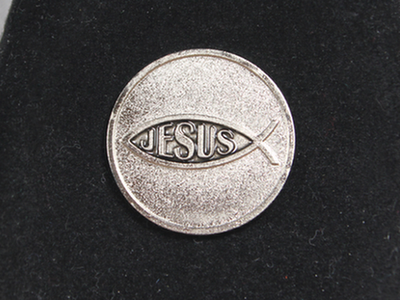 Jesus Fish / Matthew 19:26 Token