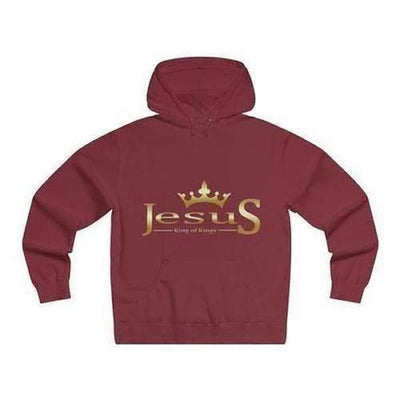 "Jesus ""King of Kings"" Lightweight Pullover Hooded Sweatshirt"