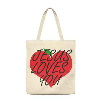 Jesus Loves You (Shoulder Tote Bag - Roomy)