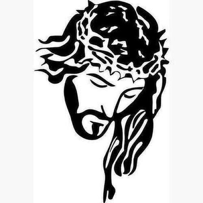 Jesus Portrait With Crown Wall Sticker - The Divine Bazaar