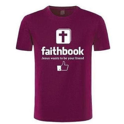 Jesus Wants To Be Your Friend Faithbook T-shirt - The Divine Bazaar