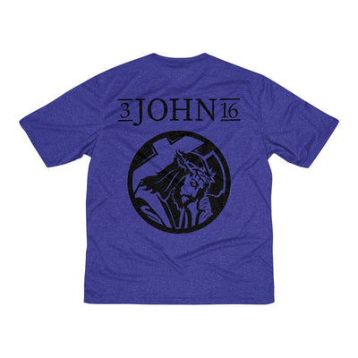 John 3:16 Men's Heather Dri-Fit Tee