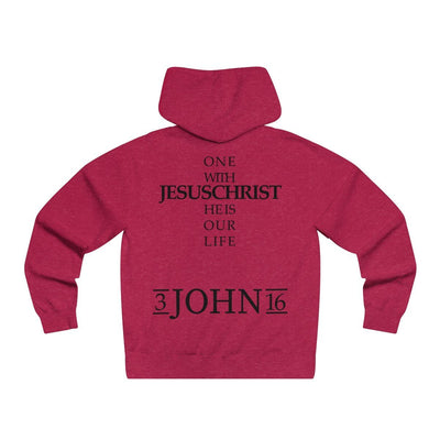 John 3:16- Men's Lightweight Pullover Hooded Sweatshirt