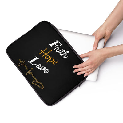 Laptop Sleeve- Faith hope love