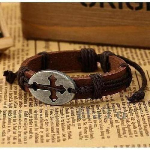 Leather Handmade Charms Bracelet - The Divine Bazaar