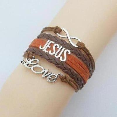 Love Jesus Fish Charm Bracelet - The Divine Bazaar
