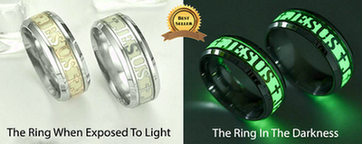 Luminous Glow in The Dark Jesus Ring - The Divine Bazaar