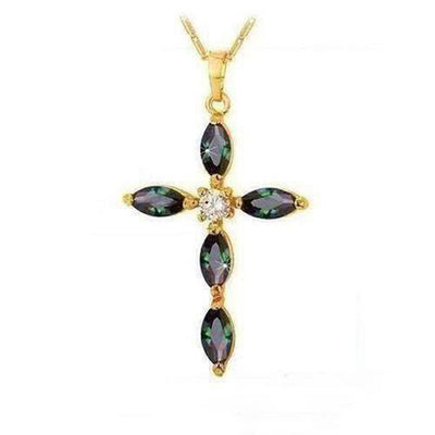 Luxury Cubic Zirconia Cross Necklace - The Divine Bazaar