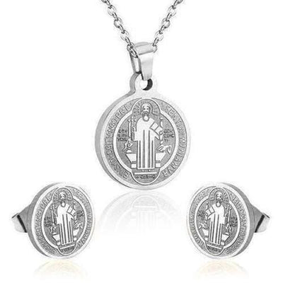 New Fashion Jewelry Set Stainless Steel  Jesus Pendant - The Divine Bazaar