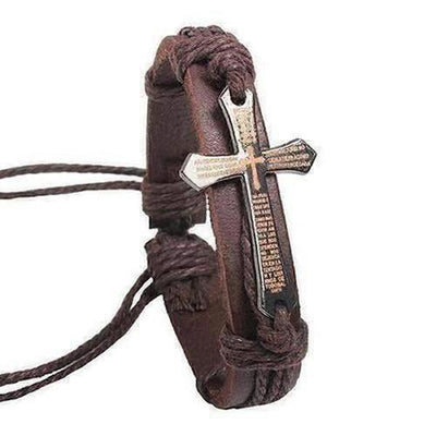 New Vintage I Love Jesus Leather Rope Bracelet For Men/Women - The Divine Bazaar