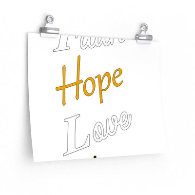 Posters- Faith Hope Love