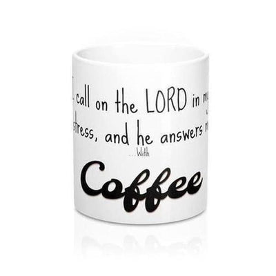 "Psalm 120:1 ""The Lord Answers Me"" Coffee Mug - The Divine Bazaar"