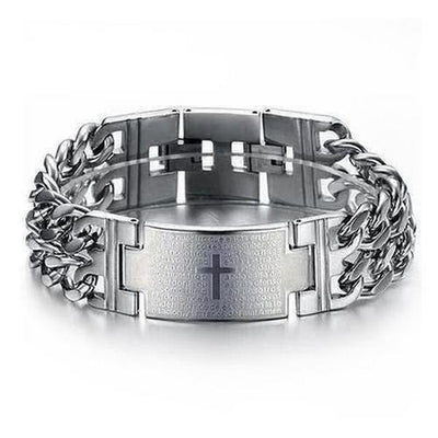 Punk Jesus Cross Bracelets Stainless Steel Bracelets - The Divine Bazaar