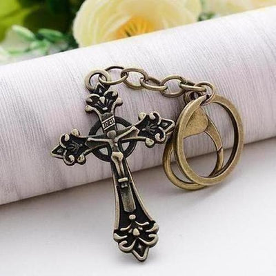Punk Vintage Alloy Cross Key Chain - The Divine Bazaar