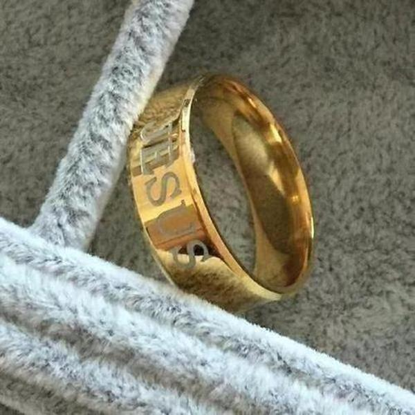 Rare Gold Jesus Ring - The Divine Bazaar