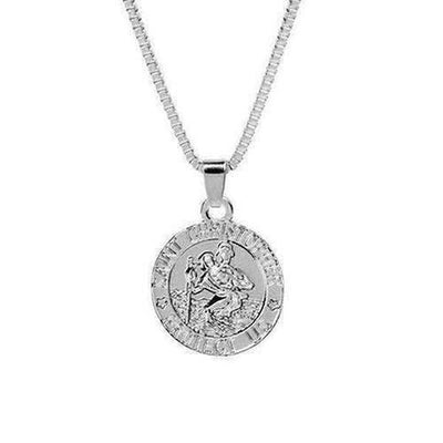 "Saint Christopher ""Protect Us"" Chain Necklace - The Divine Bazaar"