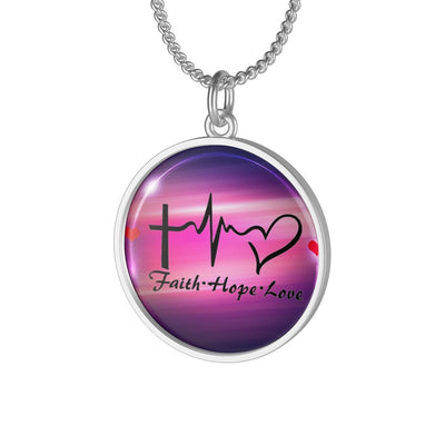 Single Loop Necklace-faith hope and love