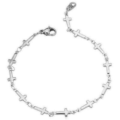 Stainless Steel Chain Cross Bracelet - The Divine Bazaar