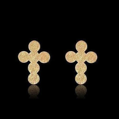 Stainless Steel Cross Stud Earring - The Divine Bazaar